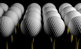 Golf ball and pin closeup marcro DOF  3D rendering. Golf ball and pin closeup marcro DOF 3D rendering Stock Photos