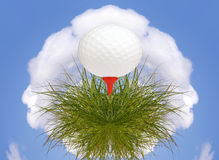 Golf ball planet Royalty Free Stock Photography