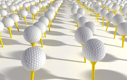 Golf Ball Plantation Royalty Free Stock Photo