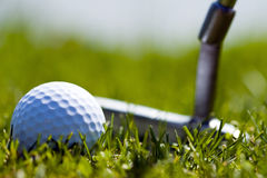 Golf Ball and Putter 1 Royalty Free Stock Photo