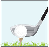 Golf Ball And Putter Royalty Free Stock Images