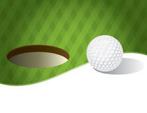 Golf Ball on a Putting Green Background Royalty Free Stock Photo