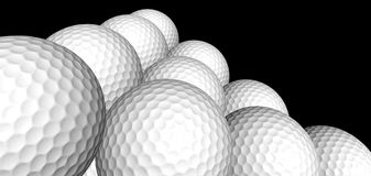Golf ball pyramid. A 3d golf ball pyramid Stock Image