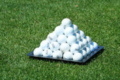 Golf ball pyramid Royalty Free Stock Photo