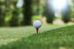 Golf and ball ready Royalty Free Stock Images