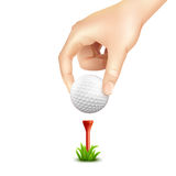 Golf Ball Realistic Background Stock Photography
