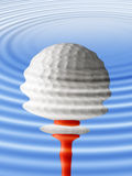 Golf ball reflection royalty free illustration