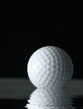 Golf ball reflection Royalty Free Stock Images