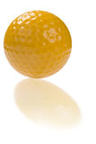 Golf ball with reflection Royalty Free Stock Images