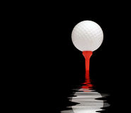 Golf ball reflection Royalty Free Stock Photos