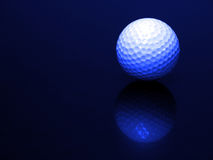 Golf Ball with Reflection Stock Image