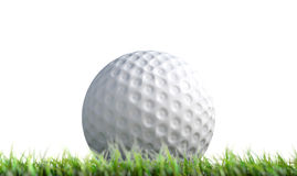 Golf Ball Resting On Grass Royalty Free Stock Photos