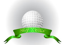 Golf ball with ribbon Stock Photos