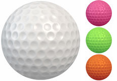 Golf Ball with Round Dimples Royalty Free Stock Image