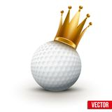 Golf ball with royal queen crown Royalty Free Stock Image