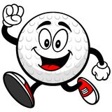 Golf Ball Runing. A vector illustration of a Golf Ball Running Royalty Free Stock Photography