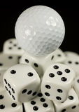 Golf ball on seven Royalty Free Stock Photo