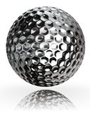 Golf ball silver metal Stock Image