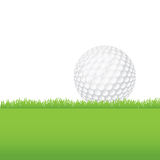 Golf Ball Sitting on a Grass Background Illustration Stock Image
