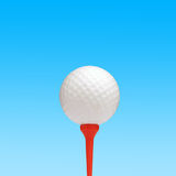 Golf ball on sky Stock Images