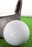 Golf ball and staff Stock Images