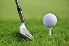 Golf ball with stick Stock Images