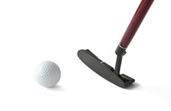 Golf Ball And Stick Royalty Free Stock Image