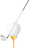 Golf ball with stick Royalty Free Stock Image
