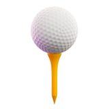 Golf Ball on Tee. 3d render of golf ball on tee Royalty Free Stock Photos