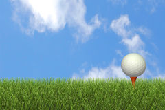 Golf Ball on Tee Stock Photography