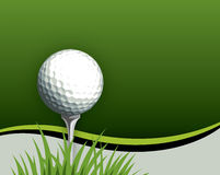 Golf ball on Tee. A golf ball sits ready to hit Royalty Free Stock Photo