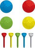 Golf Ball and Tee Royalty Free Stock Image