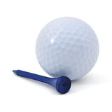 Golf ball and tee Royalty Free Stock Photos
