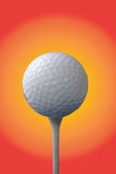 Golf Ball And Tee. Golf ball on tee, with abstract background Stock Images