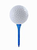 Golf Ball and Tee. On a white background Stock Photos