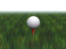 Golf ball on a tee Stock Photos