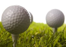 Golf ball on tee. In grass Royalty Free Stock Photography