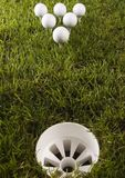 Golf ball on tee. In grass Royalty Free Stock Photos