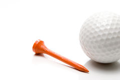 Golf Ball and Tee Stock Images