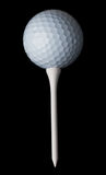 Golf ball & tee Royalty Free Stock Images