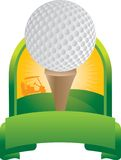 Golf Ball on Tee. Golf ball ready to be hit Royalty Free Stock Photos