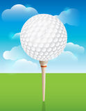 Golf Ball on Tee Background. A nice design background for a golf tournament invitation, flyer, brochure, or various other golf designs. Vector EPS 10 available stock illustration