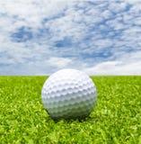 Golf ball on tee Royalty Free Stock Image
