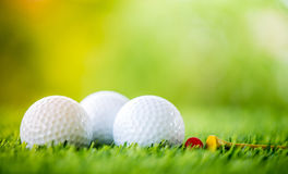 Golf ball and tee Royalty Free Stock Images