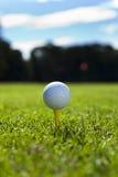 Golf ball on tee Royalty Free Stock Photos