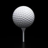 Golf ball on tee Stock Photography