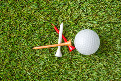 Golf ball and tee Stock Photo