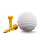 Golf Ball with Tees. 3d render of golf ball with tees vector illustration