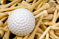 Golf Ball and Tees Royalty Free Stock Photos