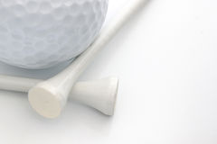 Golf Ball & Tees Royalty Free Stock Photos